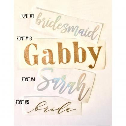 Custom Vinyl Decal | Personalized N..