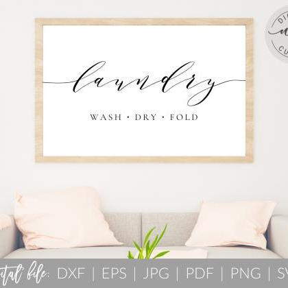 Laundry Room Sign | Wash Dry Fold |..