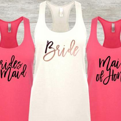 Bride Racerback Tank, Maid of Honor..