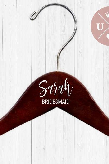 DOUBLE Personalized Hangers | Dress Hanger | Name and Title | Bridesmaid Gift | Wedding Party Gift