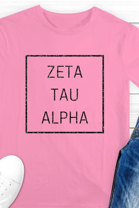 Sorority Shirt | Greek Unisex T-Shirt | Minimal Style | Chapter Name | Greek Letters | Foil Glitter Metallic | Bid Day | Big Little Gift