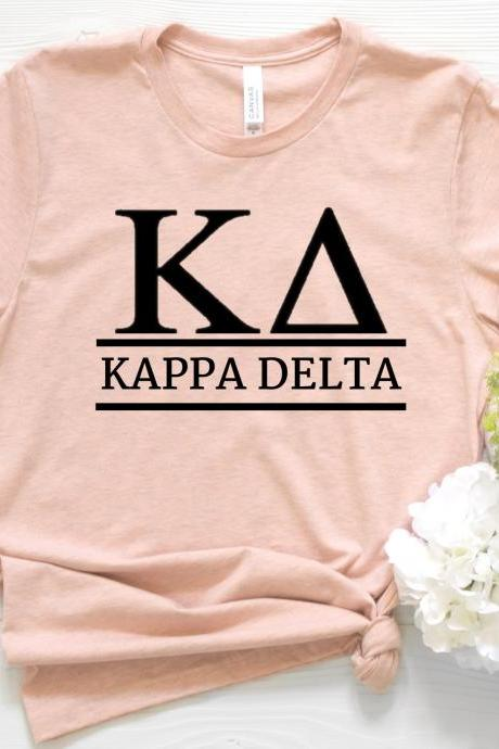 Sorority Shirt | Greek Unisex T-Shirt | Traditional Style | Chapter Name | Greek Letters | Foil Glitter Metallic | Bid Day | Big Little Gift