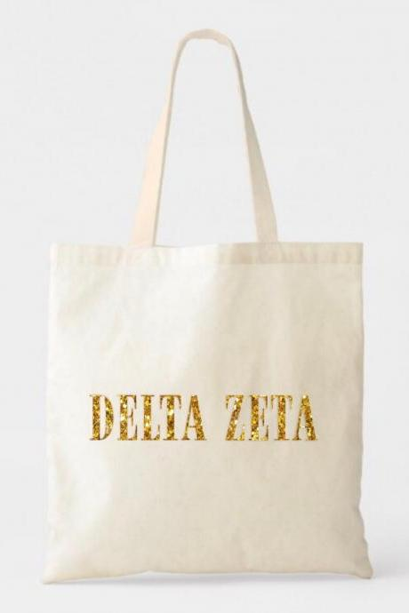 Sorority Tote | Greek Canvas Bag | Traditional | Print Name | Foil Glitter Metallic | Gold, Rose Gold, Silver | Bid Day | Big Little Gift